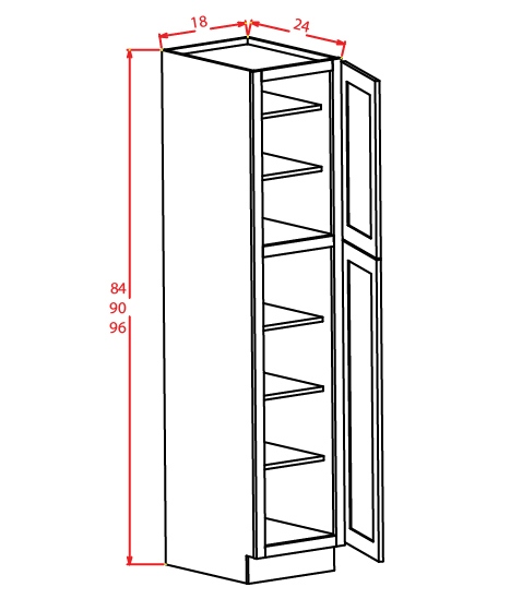 YW-U189024 - Utility Cabinets With Two Doors - 18 inch
