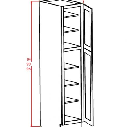 TW-U189024 - Utility Cabinets With Two Doors - 18 inch