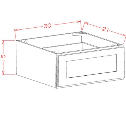 TD-1DB30 - 1 Drawer Base - 30 inch