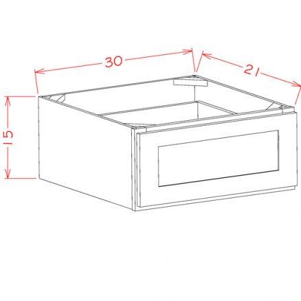 YW-1DB30 - 1 Drawer Base - 30 inch