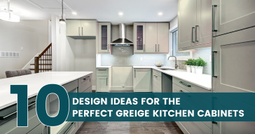 10 Design Ideas for the Perfect Greige Kitchen Cabinets