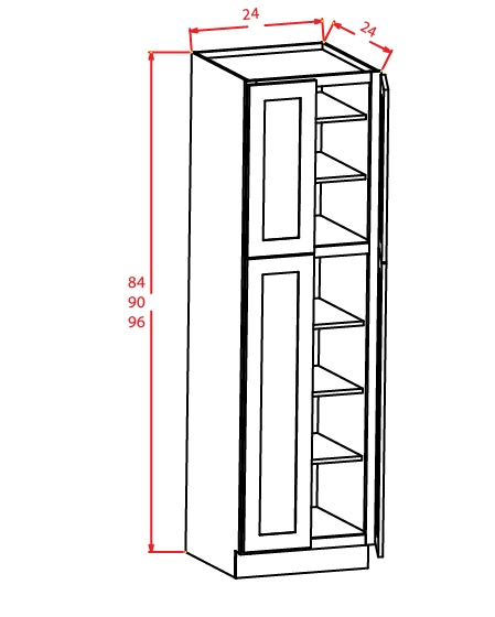 SC-U248424 - Utility Cabinets With Four Doors - 24 inch