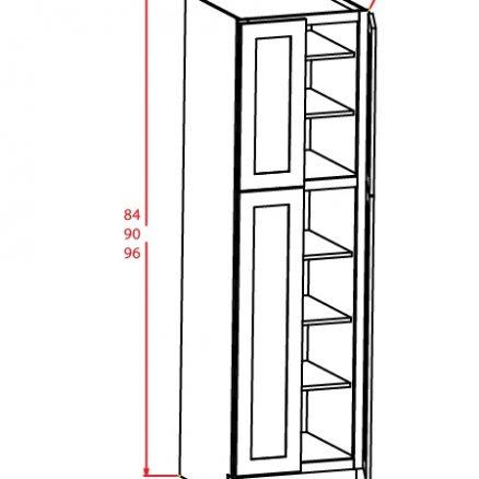 SMW-U248424 - Utility Cabinets With Four Doors - 3 inch