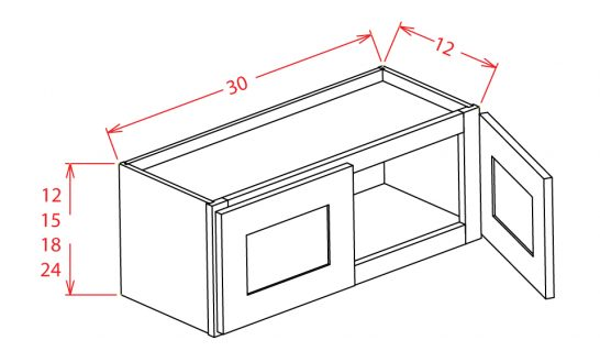 """SD-W3015 - 30""""Bridge Cabinets - 30 inch"""