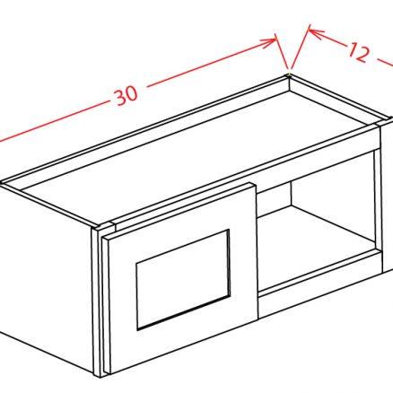 """YW-W3015 - 30""""Bridge Cabinets - 30 inch"""