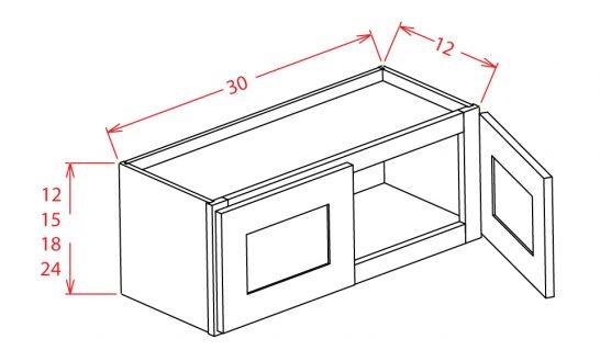 """SC-W3024 - 30""""Bridge Cabinets - 30 inch"""