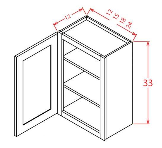 """SMW-W3318 - 33"""" Bridge Cabinet - 9 inch"""