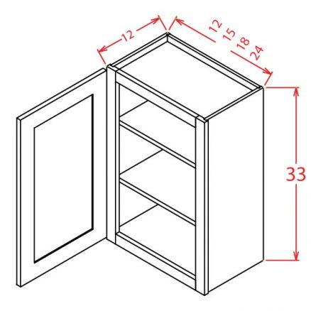 """SMW-W3324 - 33"""" Bridge Cabinet - 12 inch"""