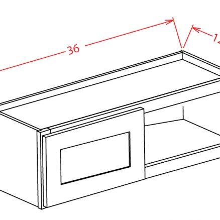 "SS-W3612 - 36"" Bridge Cabinet - 15 inch"