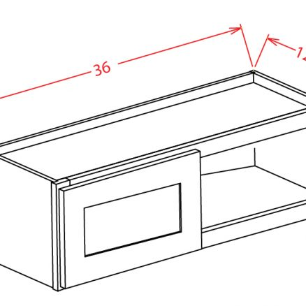 """SMW-W3612 - 36"""" Bridge Cabinet - 15 inch"""