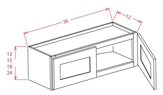 """SMW-W3624 - 36"""" Bridge Cabinet - 24 inch"""