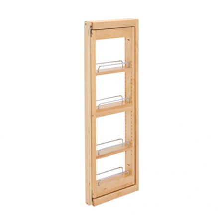 """432-WFBBSC36-3C - 3"""" Wall Filler Pullout w/ Ball Bearing Soft-Close (36""""H Wall Cabinets)"""