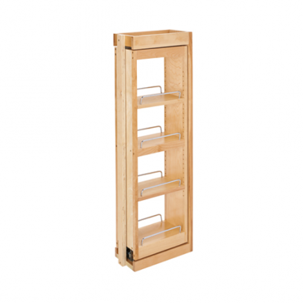 """432-WFBBSC36-6C - 6"""" Wall Filler Pullout w/ Ball Bearing Soft-Close (36""""H Wall Cabinets)"""