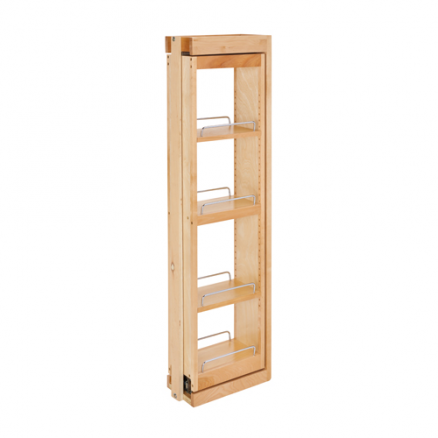 """432-WFBBSC42-6C - 6"""" Wall Filler Pullout w/ Ball Bearing Soft-Close (42""""H Wall Cabinets)"""