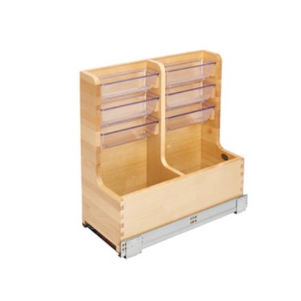 441-12VSBSC-1 - Vanity Cabinet L-Shaped Pullout Organizer w/ Blum Soft-Close