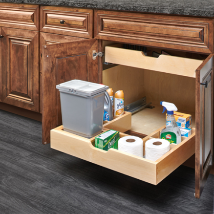 486-30VSBSC-BM-1 - Vanity Cabinet U-Shaped Pullout Organizer w/ Blum Soft-Close