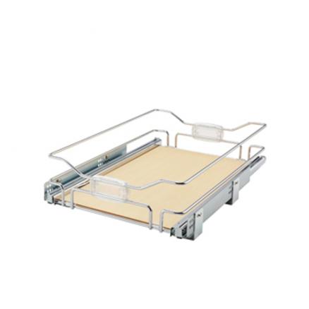 5330-15BCSC-GR - Base Cabinet Solid Shelf Pullout w/ Blum Soft-Close