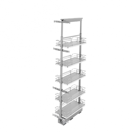 5358-10-GR - Wire Frame Solid Bottom Pantry Pullout