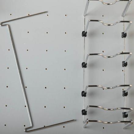 5DCD-1-CR - Stainless Steel Pot/Pan Organizer for Peg Board Drawer Insert