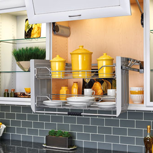 """5PD-36CRN - 36"""" Wall Cabinet Pull-Down Shelving System"""