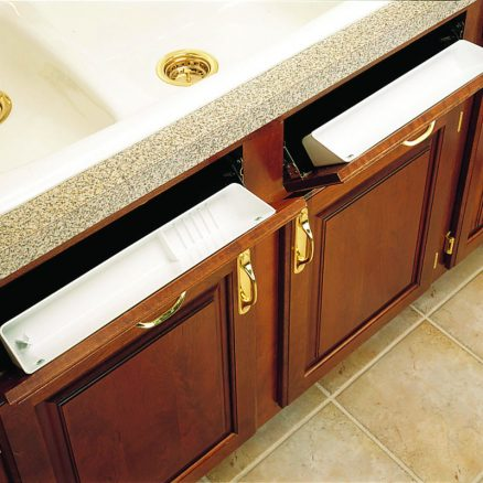 """6572-11-11-52 - 11"""" Sink Front Tray Kit 2 pr. Hinges and 2 Trays"""