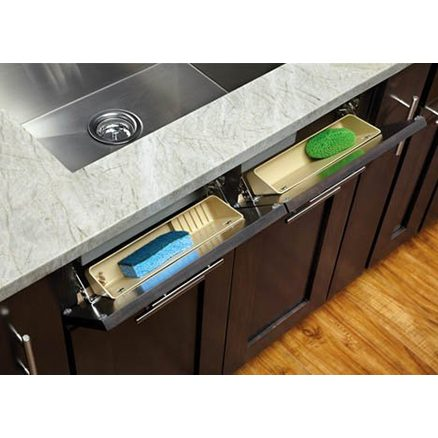 """6572-14-11-52 - 14"""" Sink Front Tray Kit 2 pr. Hinges and 2 Trays"""
