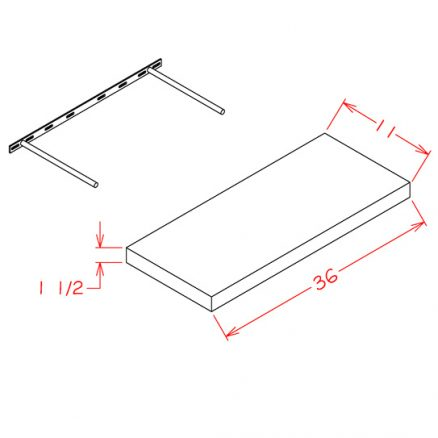 CS-FS36 - Floating Shelf - 11 inch
