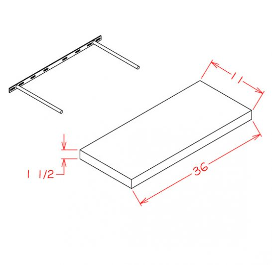 SG-FS36 - Floating Shelf - 11 inch