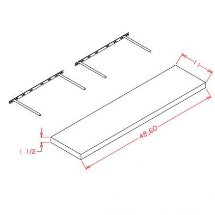 SG-FS60 - Floating Shelf - 11 inch