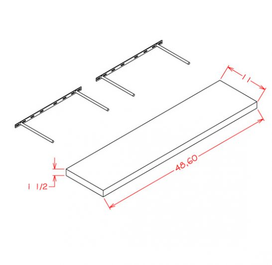 YC-FS60 - Floating Shelf - 11 inch