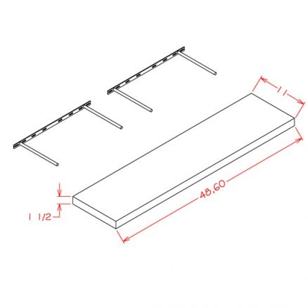 SE-FS48 - Floating Shelf - 11 inch