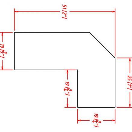 SMW-ALRM8 - Molding-Angle Light Rail - 18 inch