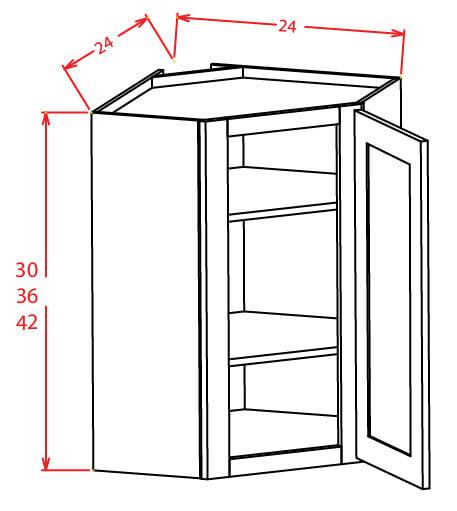 SC-DCW2736GD - Diagonal Corner Wall Cabinets - 27 inch