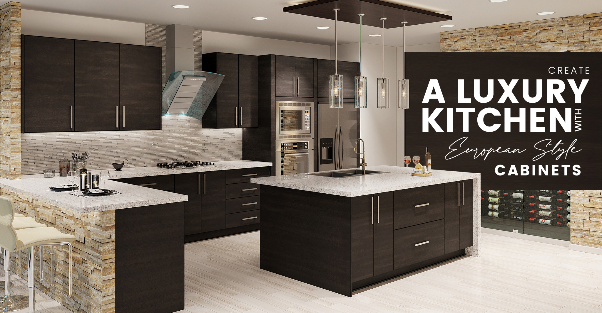 Create a Luxury Kitchen with European Style Cabinets