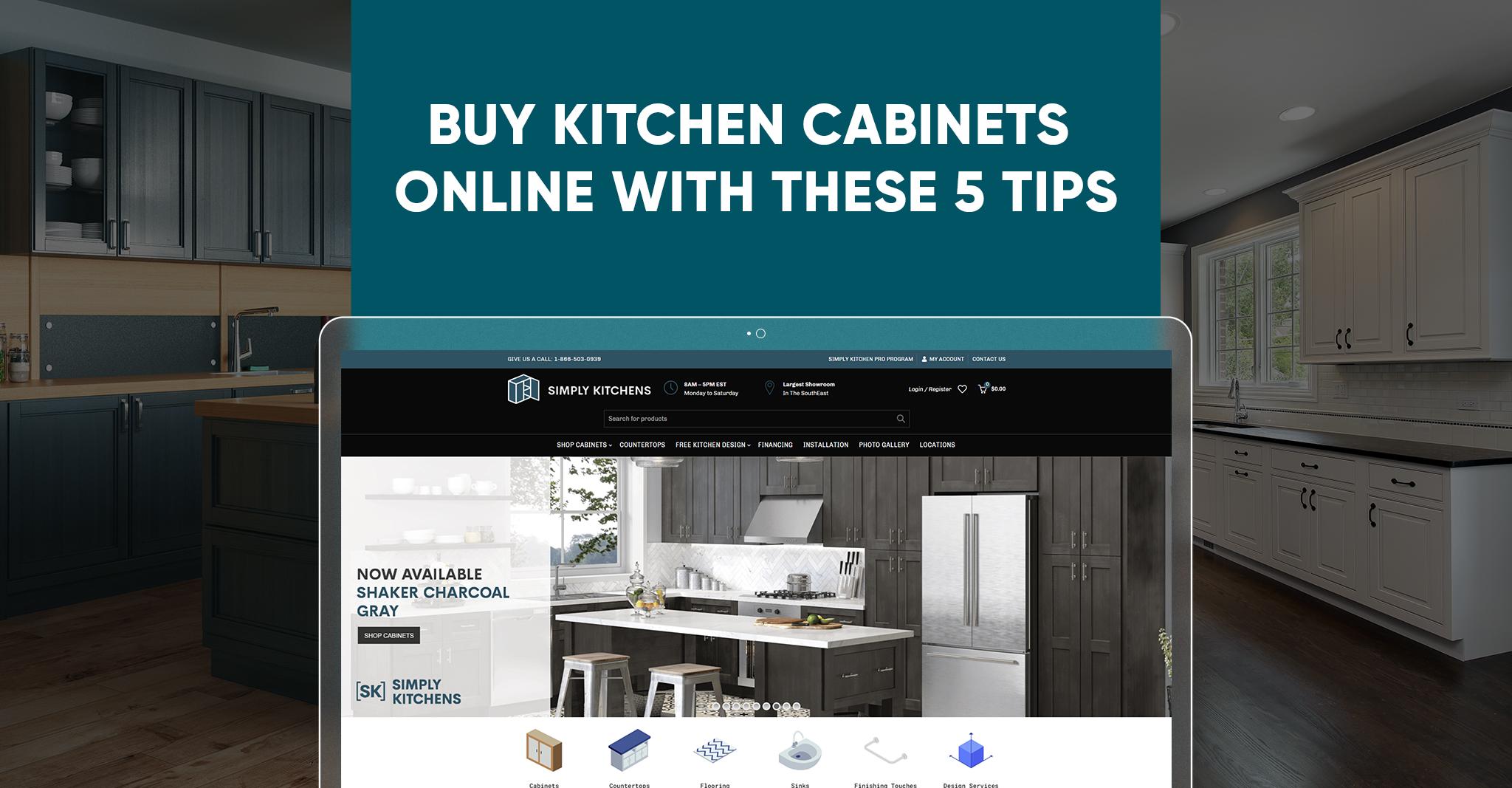 Buy Kitchen Cabinets Online with These 5 Tips