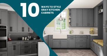 10 Ways to Style Gray Kitchen Cabinets