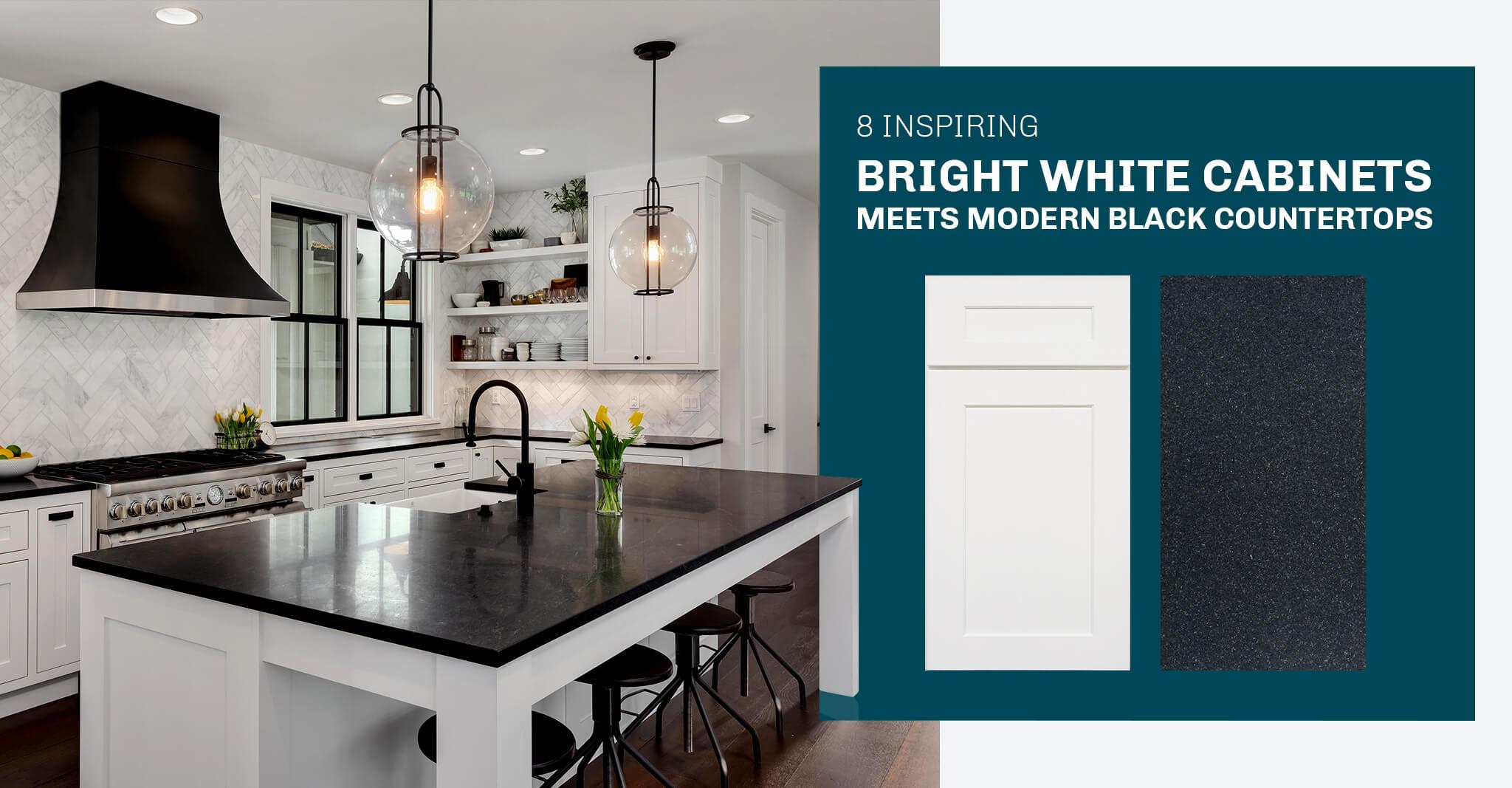8 Inspiring Kitchen Designs: Modern Black Countertops Meet Bright White Cabinets
