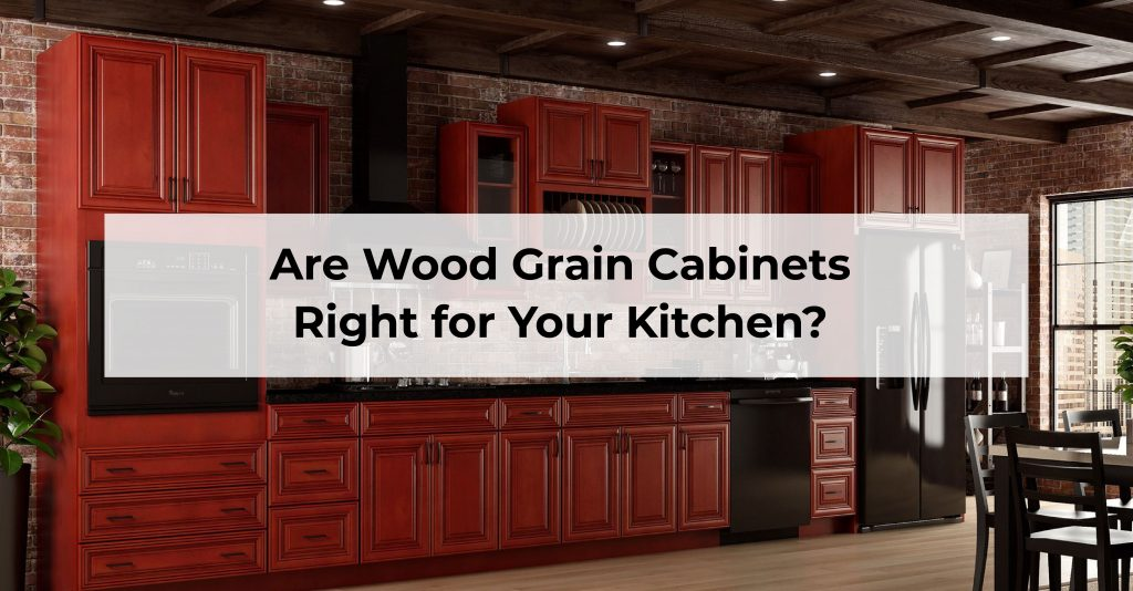 Wood-grain-kitchen-cabinets