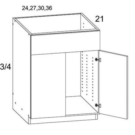MGW-VS24 - Two Door Vanity Sink Base Cabinet- 24 inch