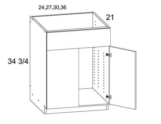 MGW-VS24 - Two Door Vanity Sink Base Cabinet- 24 inch