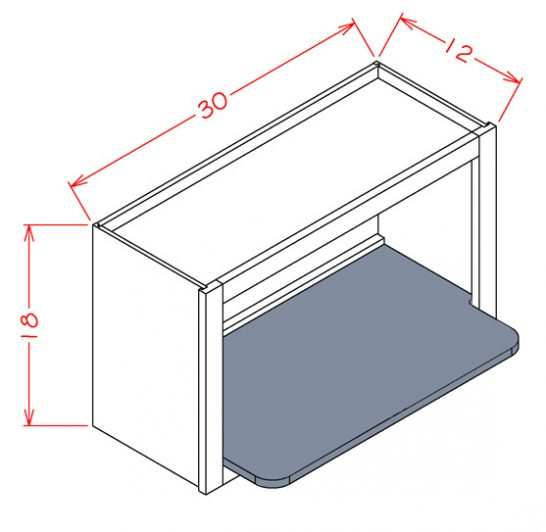 CS-WMSSHELF Wall Microwave Shelf Kit