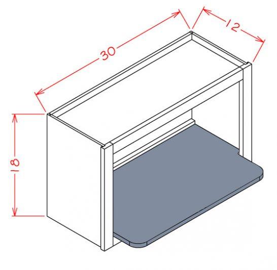 WMSSHELF Antique White - Wall Microwave Shelf Kit