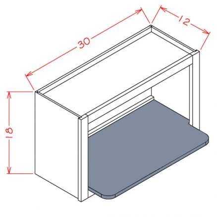 WMSSHELF White - Wall Microwave Shelf Kit