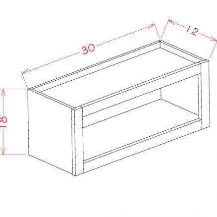 CS-WOC3018 Wall Open Cabinet