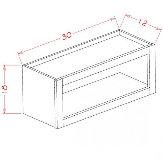 WOC3018 Dusk - Wall Open Cabinet