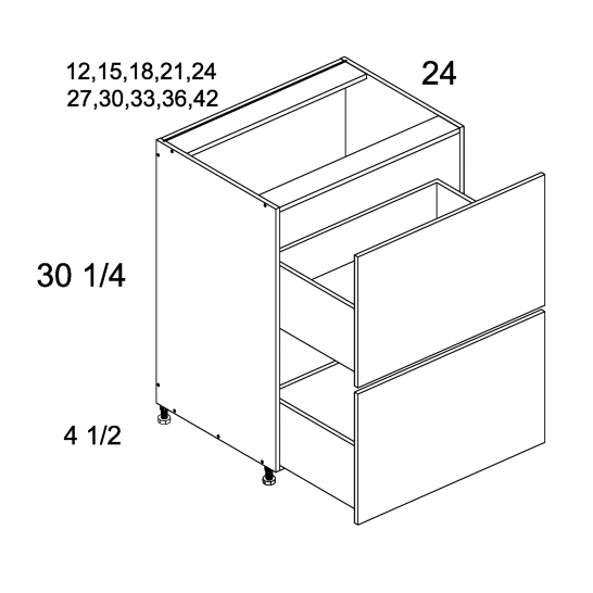 PGW-2DB42 - Two Drawer Bases - 42 inch