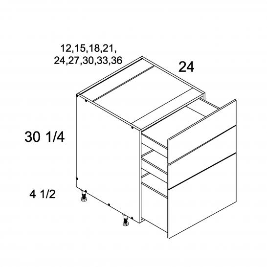 TGW-3DB12 - Three Drawer Bases - 12 inch