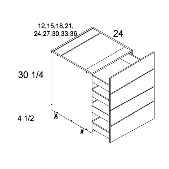 ROS-4DB30 - Four Drawer Bases - 30 inch
