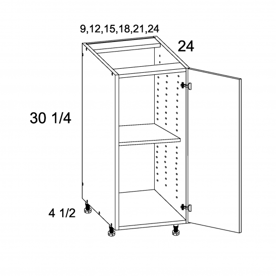 ROS-B18FH - Full Height Single Door Bases - 18 inch