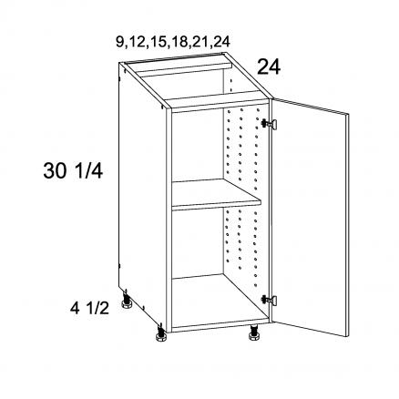 PGW-B24SFH - Full Height Single Door Bases - 24 inch